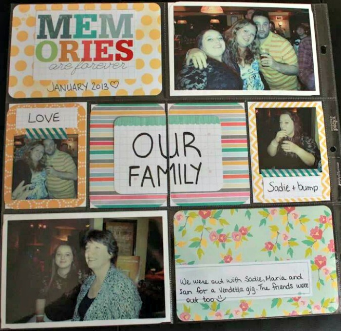 January 2013 Project Life page 1