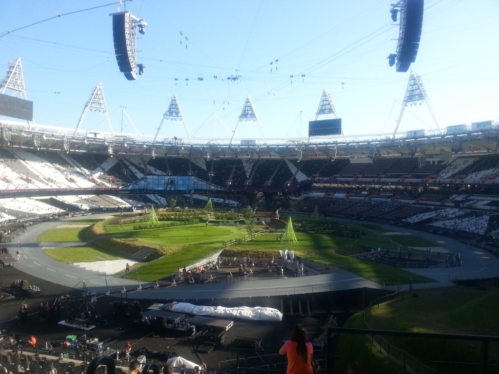 The inside of the Olympic Stadium