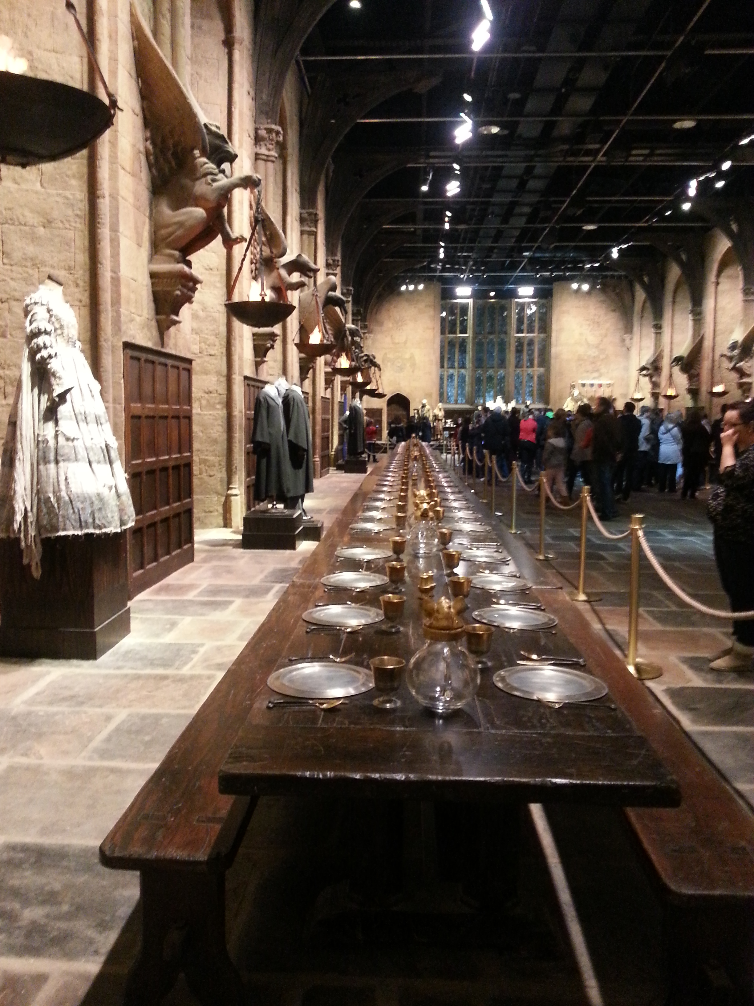 House table in the Great Hall