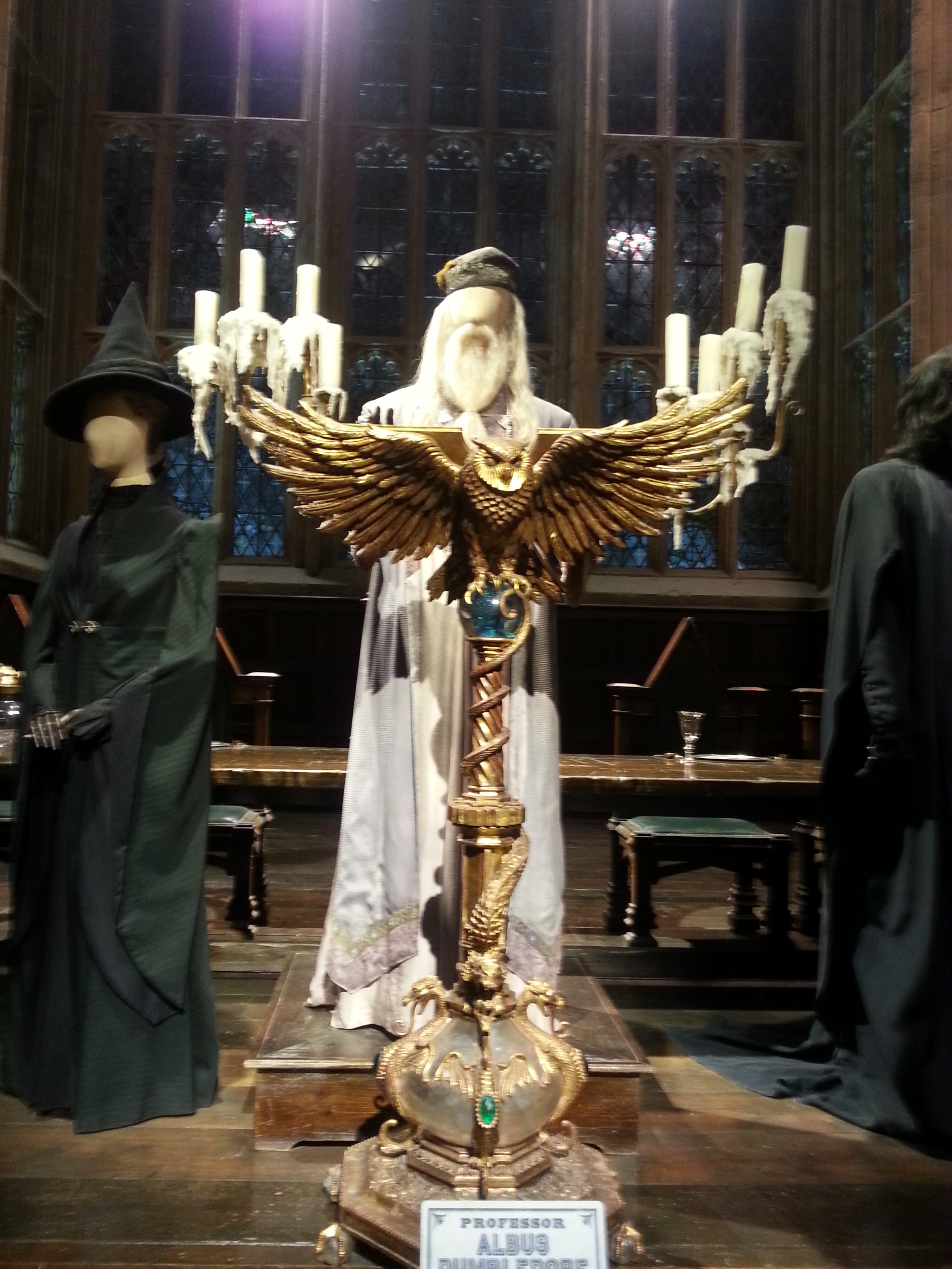 Dumbledore at the head of the Great Hall.