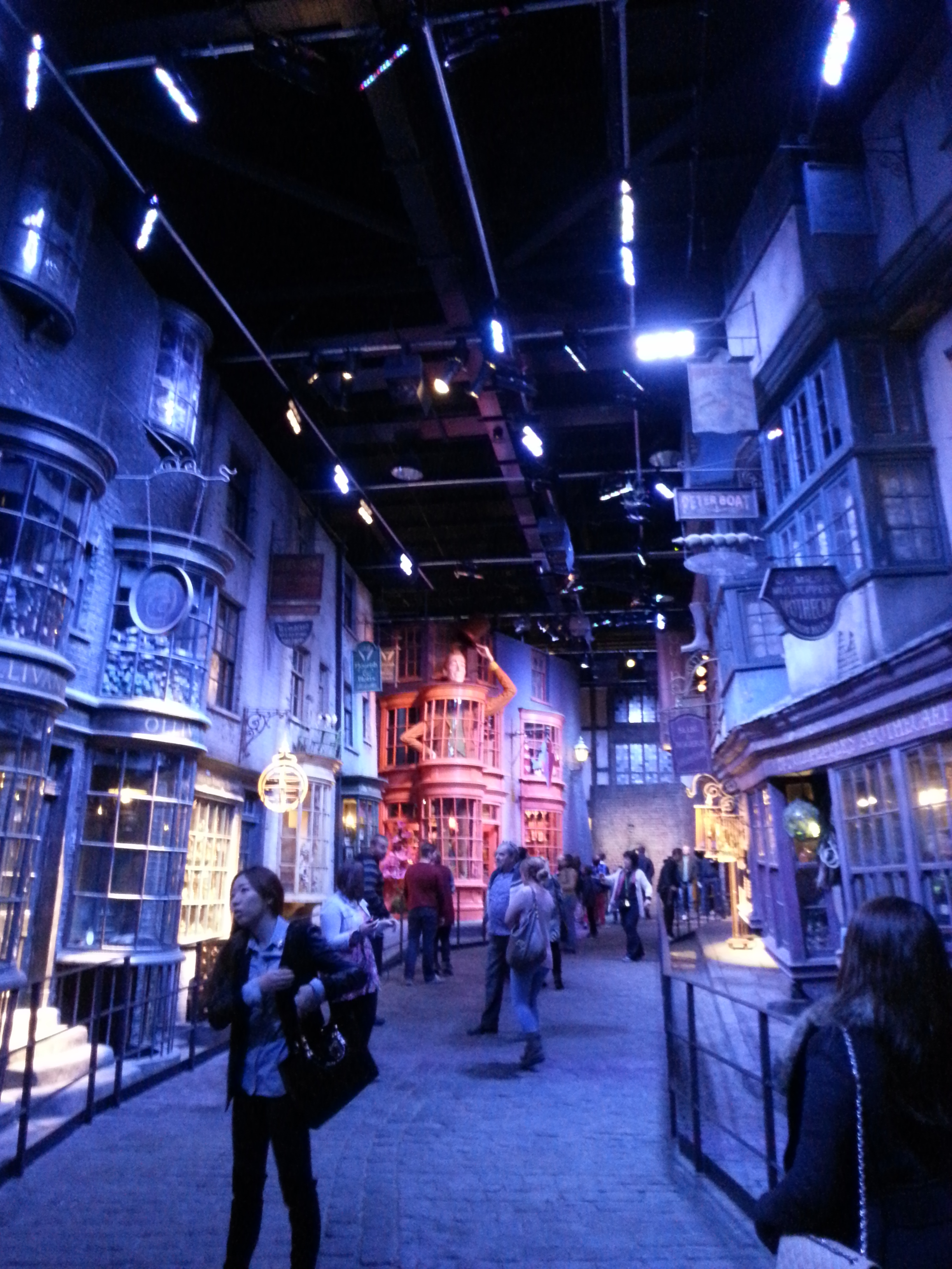 The entirety of Diagon Alley was there in all of its glory.