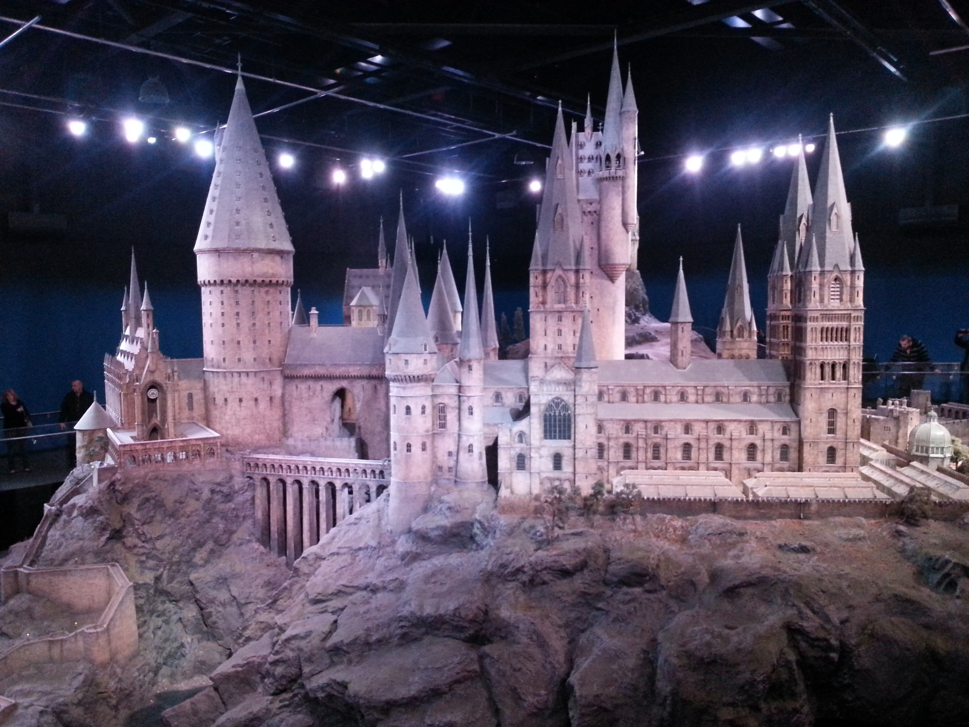 Model of Hogwarts that they used for filming. I didn't know this existed. Seeing it took my breath away.
