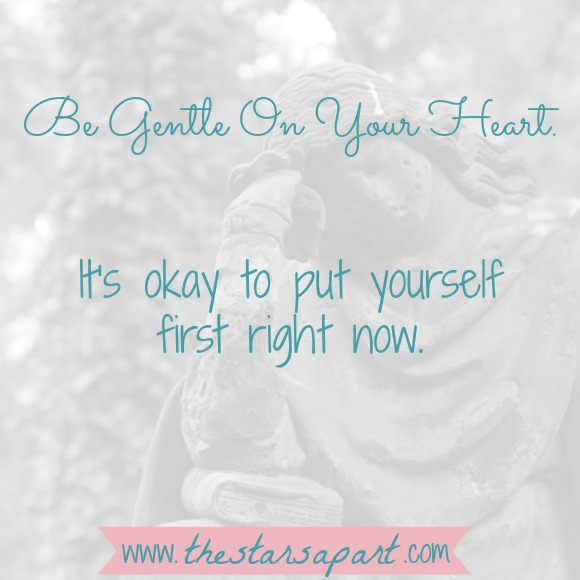 It's okay to put your own needs first when you're grieving.
