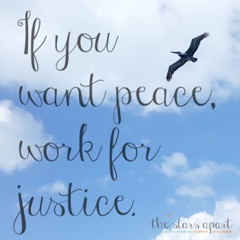 if you want peace, work for justice